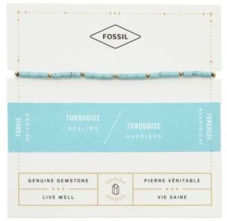 Fossil Turquoise Beaded Bracelet jewelry