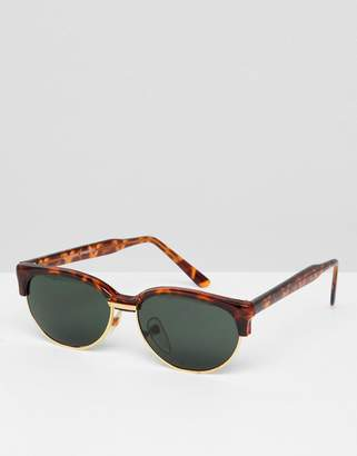 Reclaimed Vintage Inspired Retro Sunglasses In Tort Exclusive To ASOS