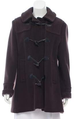 Burberry Wool Collared Long Sleeve Coat