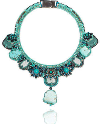 Sole Society Womens Open Sea Statement Necklace Turquoise One Size From Sole Society kbiTnf