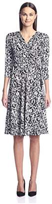 Society New York Women's 3/4 Sleeve Dress