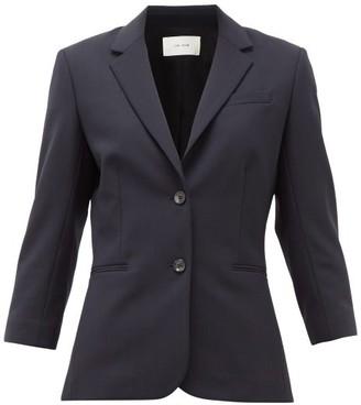 The Row Schoolboy Wool Blend Blazer - Womens - Navy