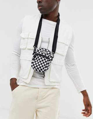 Checkerboard cross body bag