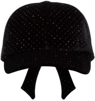 Maison Michel Tiger embellished velvet baseball cap