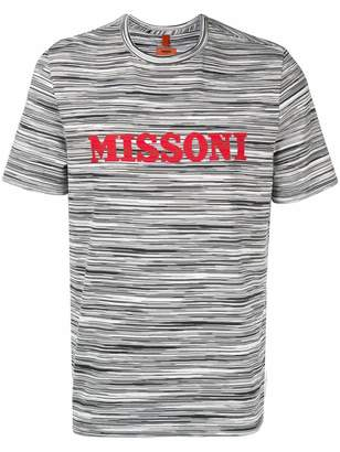 Missoni logo print striped T-shirt