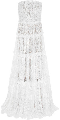 Lanvin - Strapless Tiered Lace Gown - Ivory $21,495 thestylecure.com