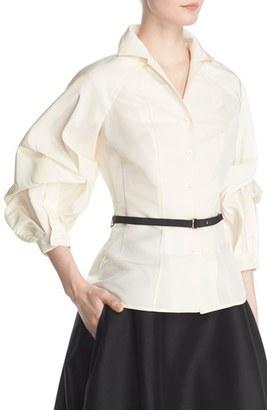 Women's Carolina Herrera Full Sleeve Silk Blouse $1,690 thestylecure.com
