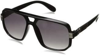 Zerouv Classic Square Frame Plastic Flat Top Aviator Sunglasses