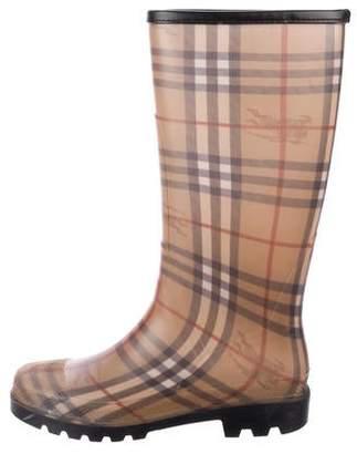 Burberry Horseferry Check Rain Boots