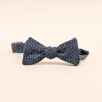 Blade + Blue DOORBUSTER DAY Navy Blue Mini Floral Print Bow Tie