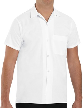 Red Kap Men's Classic-Fit Button-Down Cook Shirt