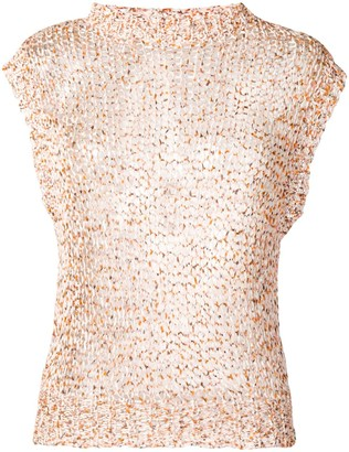 Roberto Collina open knit tank top
