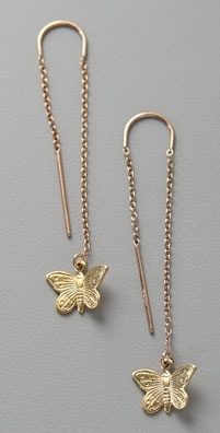 Gara Danielle Butterfly Drop Earrings