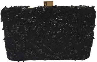Elie Saab Black Glitter Clutch Bag