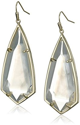 Kendra Scott Caroline Gold Ivory Mother of Pearl Drop Earrings $80 thestylecure.com