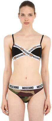 Moschino Logo Trim Triangle Bra