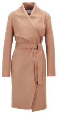 BOSS Hugo Waterfall coat in a double-faced wool 4 Brown
