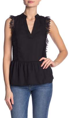 Dee Elly Lace Panel Sleeveless Blouse