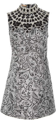 Michael Kors Shift Dress With Embroidered Bib