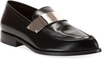 Balmain Men's Karl Shiny Leather Dress Loafers