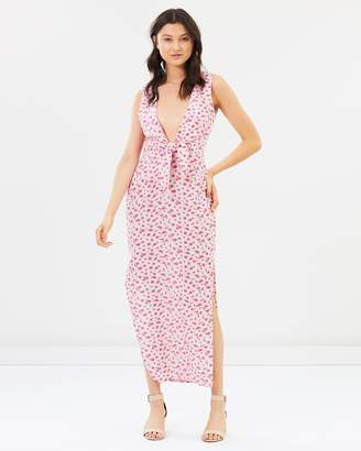 Atmos & Here ICONIC EXCLUSIVE - Ally Tie Front Maxi Dress