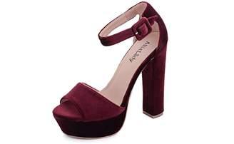 Glamorous Mila Lady Kimberly Women's Platform Block Chunky Heels