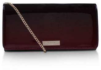 Carvela Red Alice Clutch Bag With Shoulder Chain