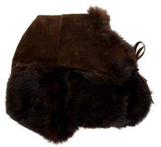 Fur-Trimmed Trapper Hat
