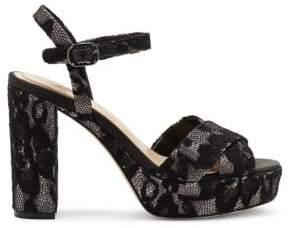 Vince Camuto Imagine Floral Lace Ankle Strap Sandal