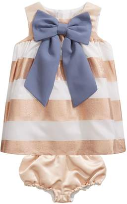 Hucklebones Striped Bow Dress with Bloomers