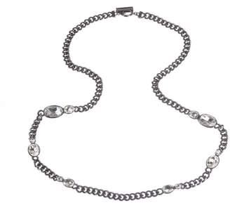 Givenchy Headlight Rhinestone Flapper Necklace