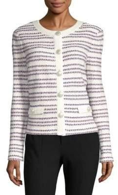 St. John Striped Long-Sleeve Jacket