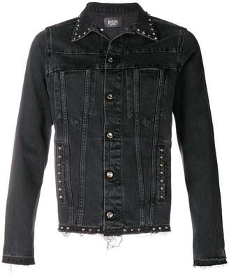 Overcome studded collar denim jacket