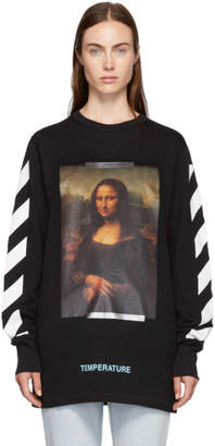 Off-White Off White Black and White Diagonal Monalisa T-Shirt