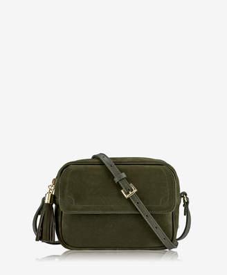 GiGi New York Madison Crossbody, Charcoal French Nubuck Leather