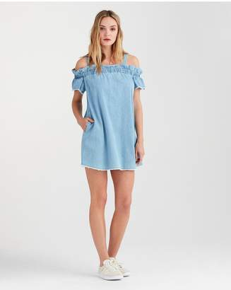 0c05d0ca6a ... 7 For All Mankind Flounce Strap Dress In Soft Blue Skies