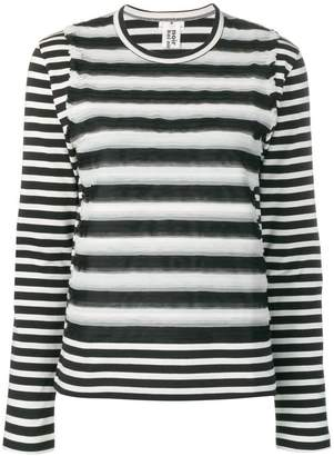 Comme des Garcons striped knitted top