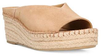 Franco Sarto Pine Suede Espadrille Wedge Sandals $79 thestylecure.com