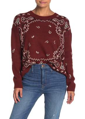 Madewell Bandana Paisley Print Pullover Sweater