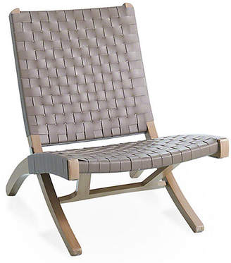 Global Views Safari Folding Chair - Gray Leather
