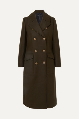 Rag & Bone Remington Double-breasted Wool-blend Felt Coat - Green