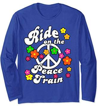 Peace Train Flower Power Tshirt for Hippies & Peace Lovers