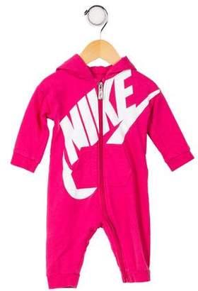 Nike Girls' Logo Hooded All-In-One
