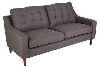 Lumisource Maverick Mid-Century Modern Sofa Upholstered in Dark Grey Fabric