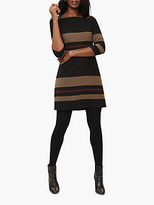 Phase Eight Sophie Stripe Dress, Black/Multi