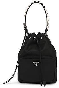 553b4a1471cc Prada Women s Nylon Bucket Bag with Studding