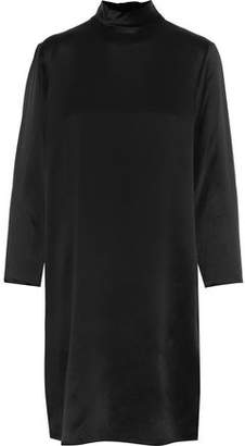 Vince Silk-Satin Turtleneck Dress