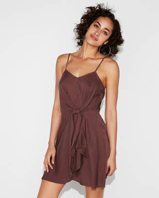 Express Knot Front Wrap Dress