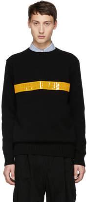Junya Watanabe Black Reflector Crewneck Sweater