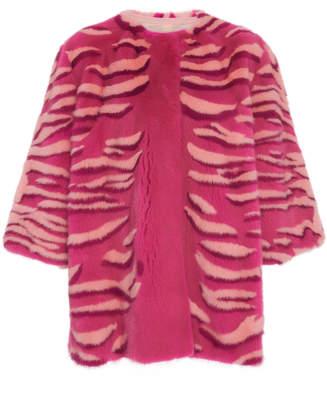Carolina Herrera Printed Mink Fur Coat